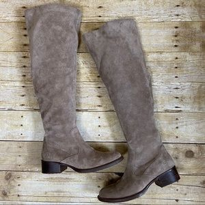 Born Taupe Cricket Over The Knee Suede Boots